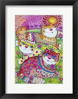 Framed 3 Happy Cats