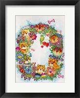 Framed Wreath Cats 2