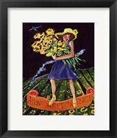 Framed Allons Au Provence