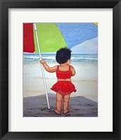 Framed Beach Baby K