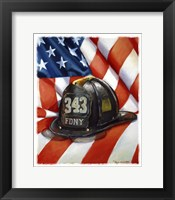 Framed 343 FDNY