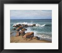 Framed Block Island Wave