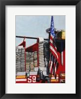 Framed Engine 59 American Flag