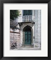 Framed Green Door