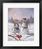 Framed Mr And Mrs Snow 2010