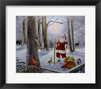 Framed Christmas In The Forest