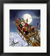 Framed Santas Big Night