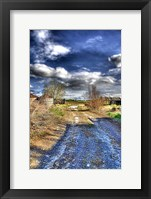 Framed Road to the Fields
