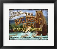 Framed Big Bear Den