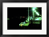 Framed Night Newbury Port Print
