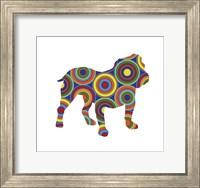Framed Bulldog Abstract Circles