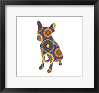 Framed Chihuahua Abstract Circles