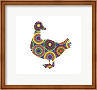 Framed Duck Abstract Circles