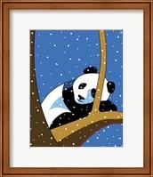 Framed Giant Panda Sleeping In Treee