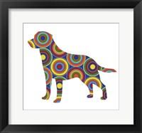 Framed Labrador Abstract Circles