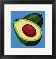 Framed Avocado On Blue