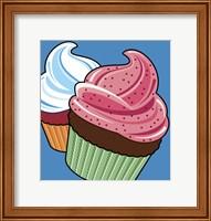 Framed Cupcakes On Blue