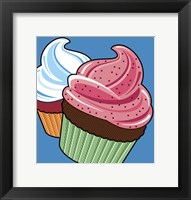 Framed Cupcakes On Blue