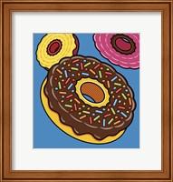 Framed Doughnuts On Blue
