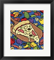 Framed Pizza Slice With Toppings