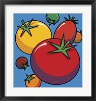 Framed Various Tomatoes On Blue