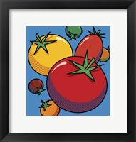 Framed Various Tomatoes On Blue