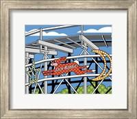 Framed Jack Rabbit Roller Coaster