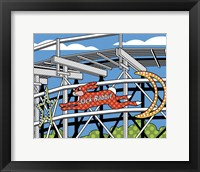 Framed Jack Rabbit Roller Coaster