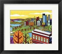 Framed Pittsburgh Incline Autumn Pop