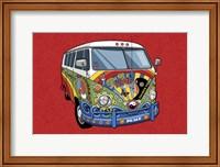 Framed Sixties VW Hippy Van