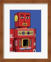 Framed Vintage Red Robot