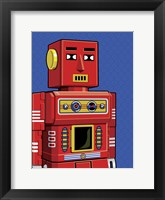 Framed Vintage Red Robot