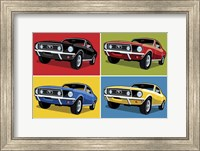Framed 1968 Mustang Classic Car