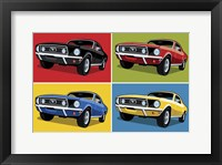 Framed 1968 Mustang Classic Car