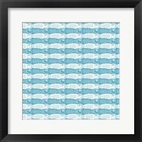 Framed Interlocking Fish Pattern