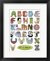 Framed Li'l Animals of Alphabet Island