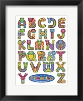 Framed Li'l Monsters of Alphabet Universe