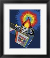 Framed Rock & Roll Lighter Tie-dye Flame