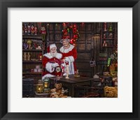 Framed Painting With Mrs Claus
