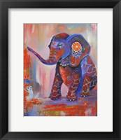 Framed Elephant Festival Colour