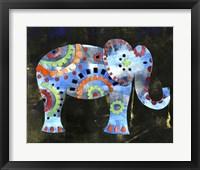 Framed Boho Elephant 1