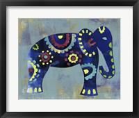 Framed Boho Elephant 2