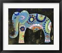 Framed Boho Elephant 3