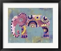 Framed Boho Elephant 4