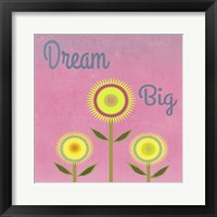 Framed Dream Big Pink