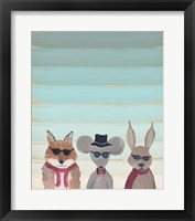Framed Hipster Animals