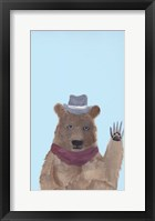 Framed Hipster Bear