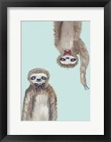 Framed Hipster Sloths