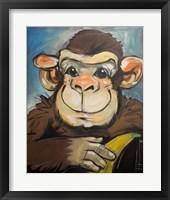 Framed Sam The Monkey