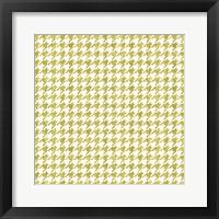 Framed Gold Houndstooth On White